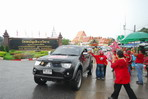 Red shirts rally  past Ayutthaya