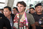 Nadal arrives in Bangkok