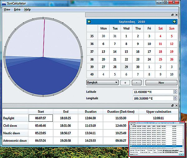 SunCalculator for Mac OS X full screenshot