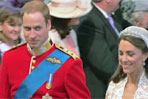 Britain's royal wedding: during wedding ceremony - walking together