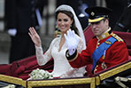Britain's royal wedding: Prince William and his wife Kate, Duchess of Cambridge after the ceremony