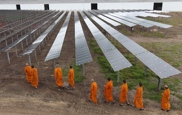 monks and solar power
