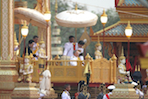 King Presides Over Royal Cremation