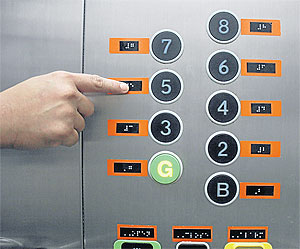 elevator with braille button