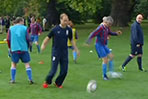 Prince William Takes Part In Soccer Skills Session