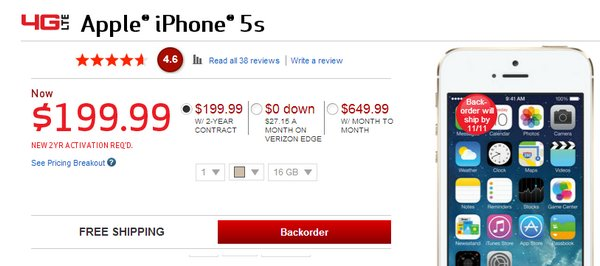 On Amazon Thursday Unlocked No Contract Apple IPhone 5Cs Were Available Inside The US For Equivalent Of About 18400 Baht