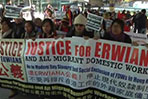 Protesters rally for foreign domestic workers' rights
