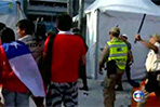 World Cup Chilean fans held over media centre storm