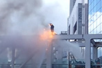 Japanese protester sets himself ablaze over new military policy