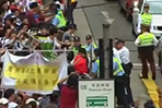 Clashes erupt at pro-democracy march in Hong Hong