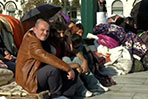 Greek MP joins Syrian refugees on hunger strike