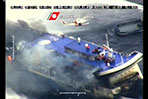 Dramatic video shows burning Italian ferry