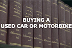 Buying a used car or motorcycle