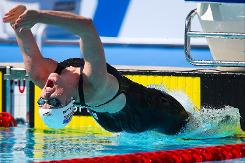 Ledecky just misses record at Pan Pac Swimming Championships