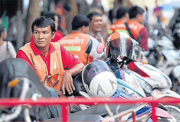 Image result for bangkok motorbike driver