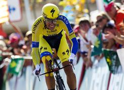 Martin wins stage, Contador takes overall lead