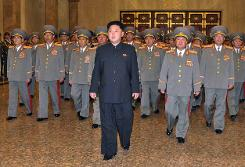 North Korea's Kim Jong-Un reappears with walking stick