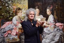 Queen guitarist rocks out with Victorian 3D photos