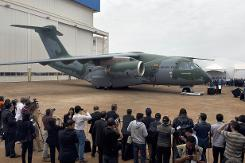 Brazil's Embraer unveils new KC-390 military transport