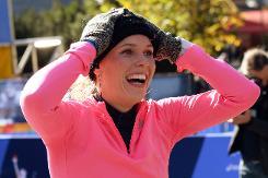 Wozniacki beats goal to complete NYC Marathon