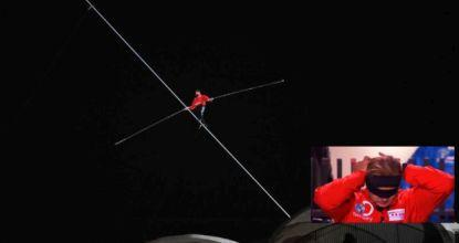 Tightrope walk blindfolded, high above Chicago streets