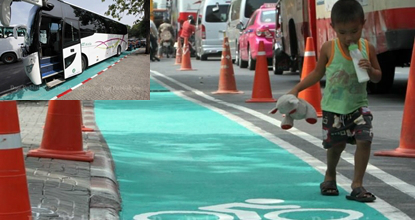 Cycling lanes upgraded – and used as parking lots (updated)