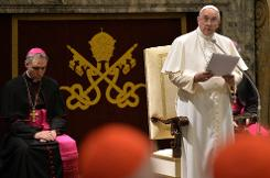 Pope's scathing attack on Vatican plagued by ills