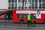 London bus crashes into tree, rips off roof