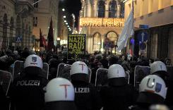 35 arrests in Vienna as far-right ball demos held