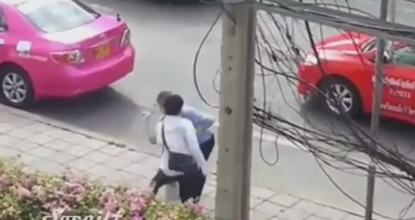 Taxi driver's fight with passenger caught on video