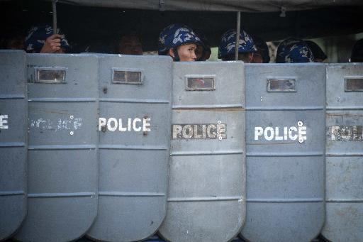 Myanmar protesters beaten, arrested