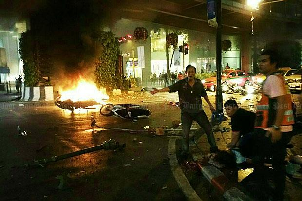 19 killed, 123 hurt as bomb blast rocks Bangkok tourist