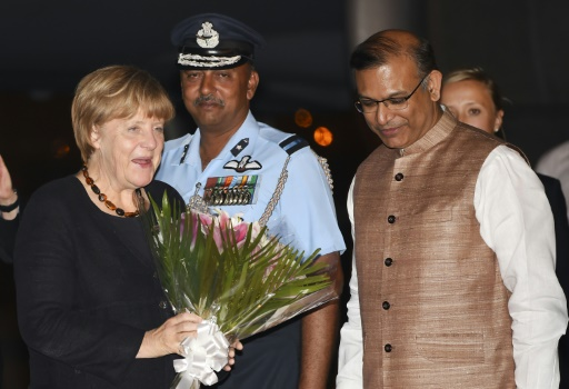 Angela Merkel lands in India, with trade high on the agenda