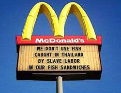 «Мы не используем для приготовления наших блюд рыбу, пойманную в Таиланде с использованием рабского труда»