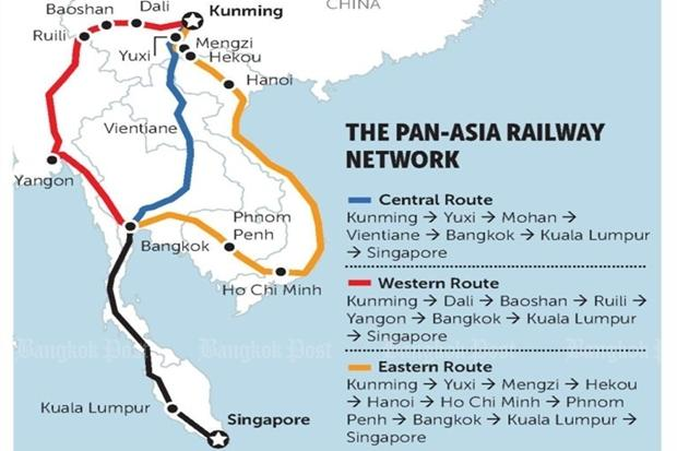 Bangkok at the centre of huge future rail network Bangkok Post