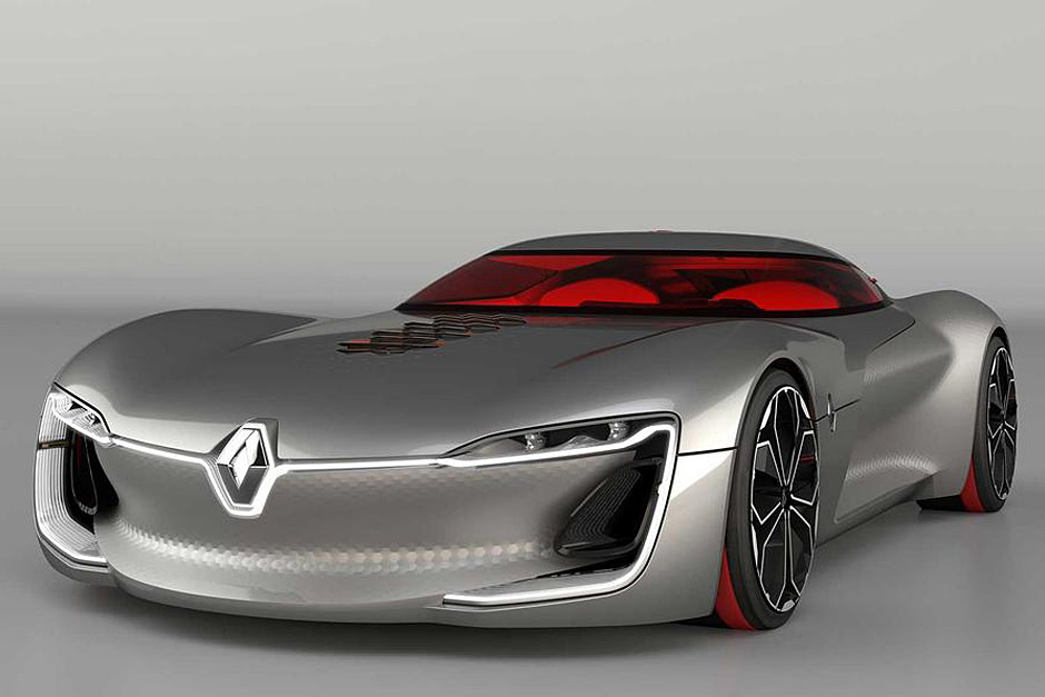 although not meant for production the renault trezor shows how sports cars can easily be powered purely by electric power - Sports Cars 2030