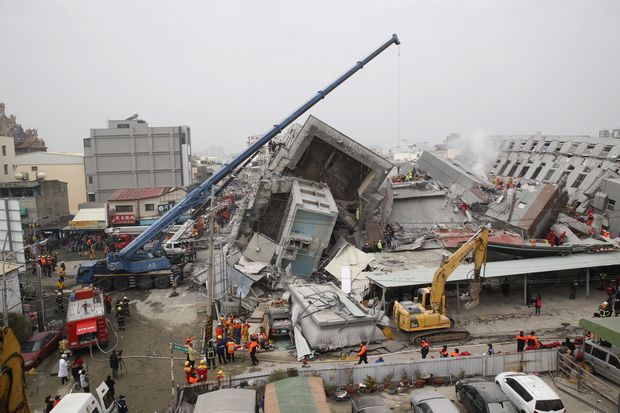 Strong quake hits Taiwan, many trapped in building
