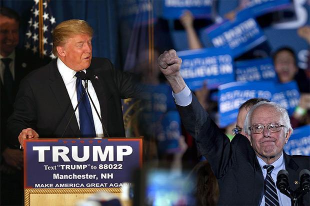 Billionaire Trump, US Senator Sanders win New Hampshire primary