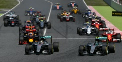 Hamilton, Rosberg crash out in Barcelona clash | Bangkok Post: news