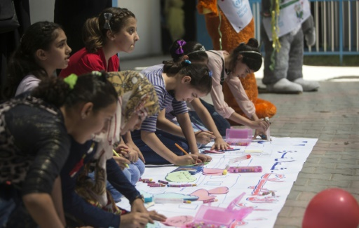 UN summer camps give respite to traumatised young Gazans
