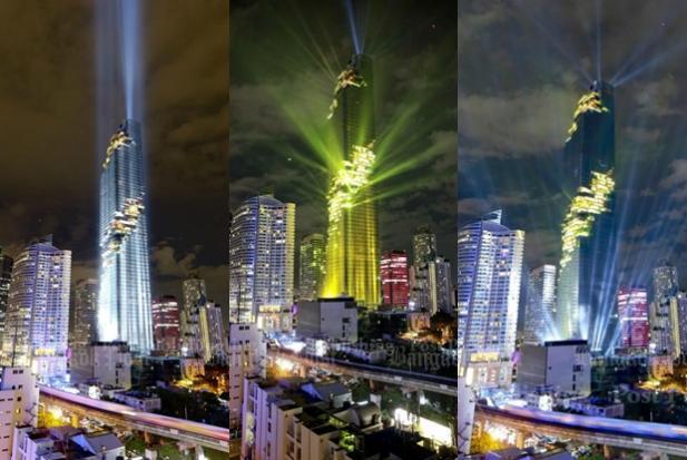 Lightshow At Bangkok S New Tallest Building Bangkok Post