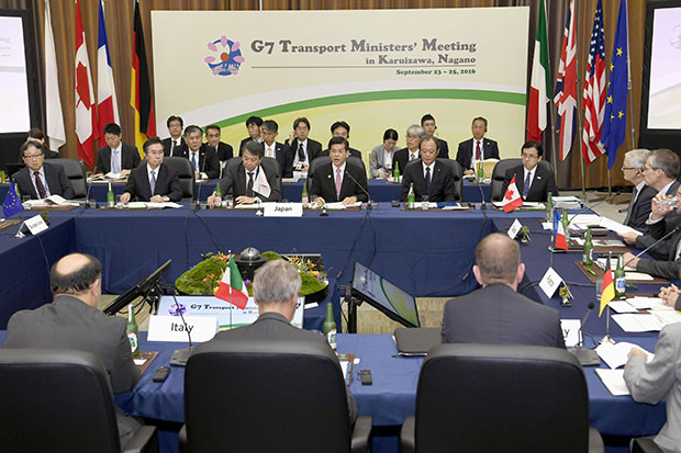 G-7 ministers to take lead in promoting self-driving cars