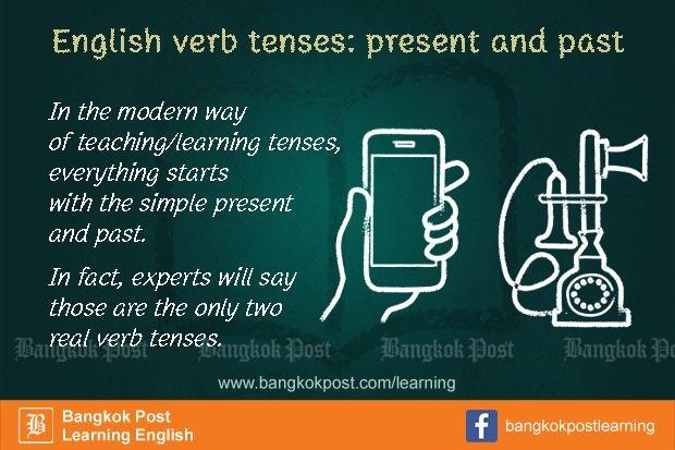 ภาษาอังกฤษที่คนไทยมักใช้ผิดกันจนชิน (21):  English verb tenses: present and past