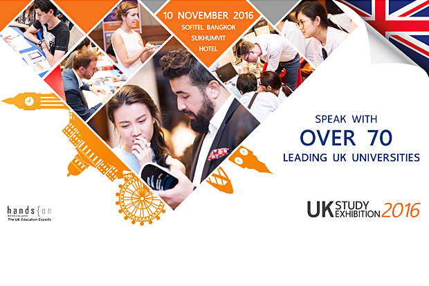 Meet over 70 UK Universities at the UK Study Exhibition 2016