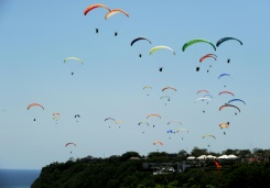 Paragliders fill Bali's skies for new world record