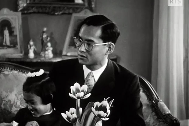 King Bhumibol in Switzerland