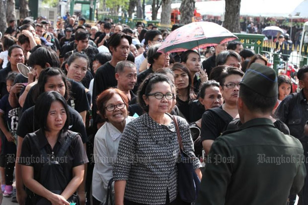 Public mourning at throne hall to start Saturday
