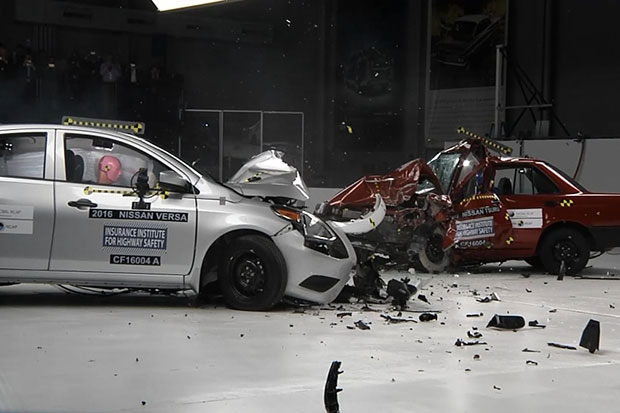 Car crash test highlights different safety standards