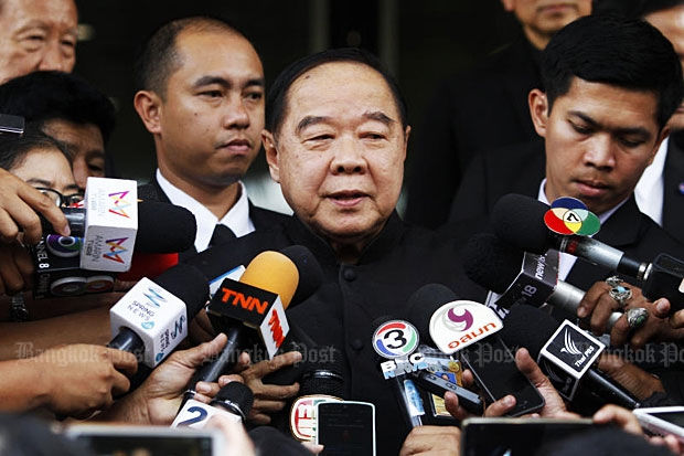 Prawit spurns calls for military to sign unity pact