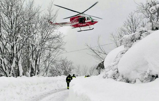 30 missing in Italy avalanche that buries hotel
